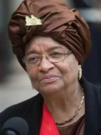 HE President Sirleaf  Johnson of Liberia