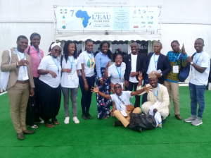 Participants from the Water Youth Forum posing together at AWW 7